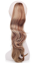 Synthetic pony tail hair extensions clip curly Blond and red hair pontail for women N084