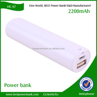 HC- A7 Promotional Gift Lipstick type Power Bank 2200mAh for Mobile phones