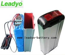 for electric bicycle, rear carrier 48v 10Ah li-ion battery