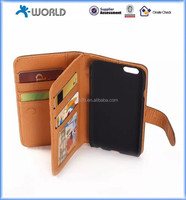 2014 New Design PU Leather Multi Card Slots Flip Wallet Case for iPhone 6/6S