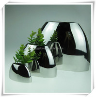 Ornamental Hotel Decor Stainless elegant Flower Pot
