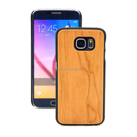 Hot Wholesale Hard Plastic Pure Wooden Case For Samsung S6