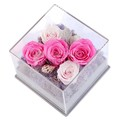 oem design clear acrylic rose flowers display boxes
