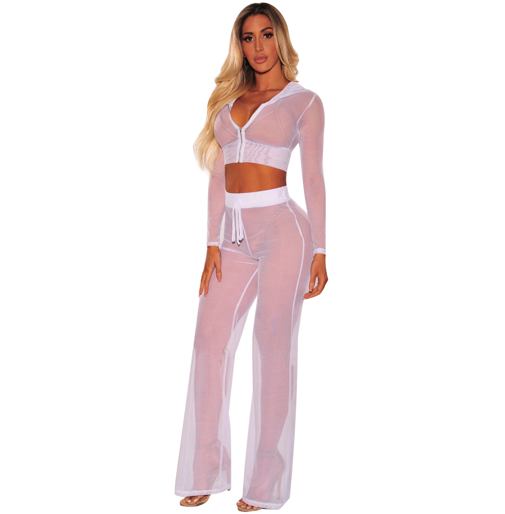 long net two piece coverup beach clothes women