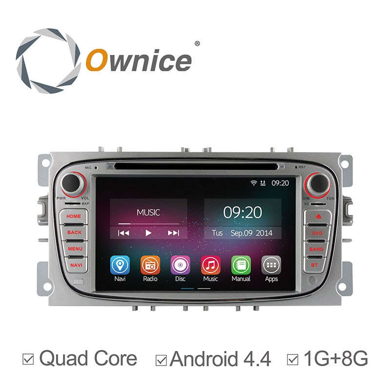 Ownice C200 Quad Core Pure Android 4.4.2 2011 dvd gps navi for ford focus Built-in Wifi