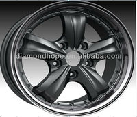 auto aluminum alloy black sport wheel rims (ZW-X509)