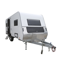 Kinlife Caravan Off Road Camper Travel Trailer Monile Travel With Trailer Trailer accessories paneling windows