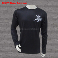100 polyester quick dry men long sleeve t shirt