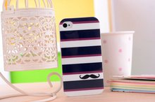 Factory Wholesale Beard Case for iPhone5 5S / Cartoon Case for iPhone 5 /Kids Cute Case Mobile Phone Accessories