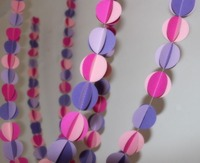 1.5 meter lilac pink Wedding Hanging Decorations Mixed clours 3D Paper Garland