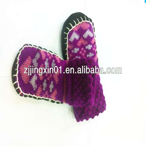 Bulk Children Slipper Socks with Rubber leather Sole socks