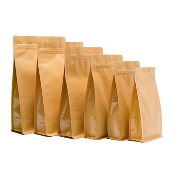 63#64#65#66#69#71#72#  Waterproof Stand Up Zipper Bag Snack Packaging Kraft Paper Bag For Take Away Food