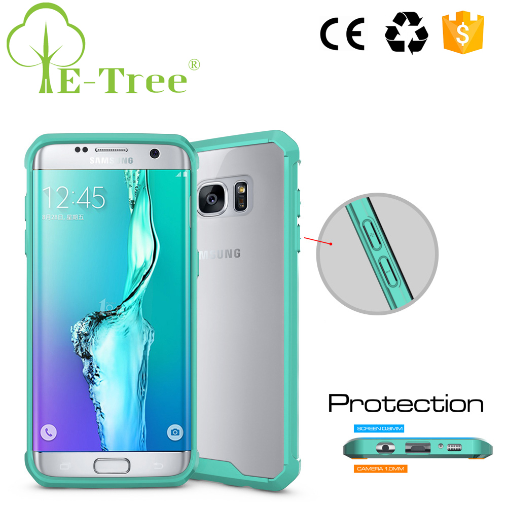 China Manufacturer Fancy Smart Phone TPU Bumper And Acrylic Cover Case For Samsung Galaxy S7 Edge
