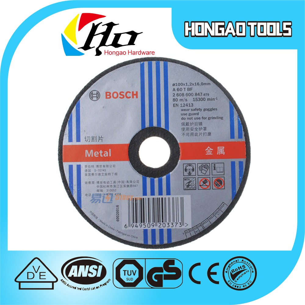 "9"" inch 230mm abrasive resin bonded flat cutting wheel in power tools at factory price as good as BOSCH"