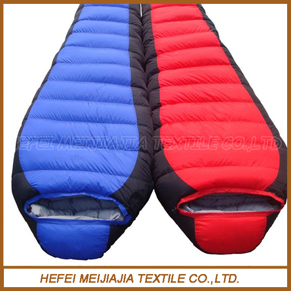 High quality and cheap price organic cotton fabric goose down sleeping bag