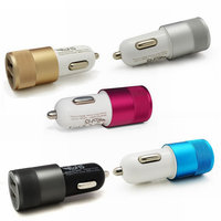 New 3.1A Aluminum material 2 Port Universal USB Car Charger For iPhone 5 6 6 plus For ipad For Samsung Galaxy S6 S5 note3 note4