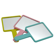 Candy color square private personalized single side plastic handheld mirror