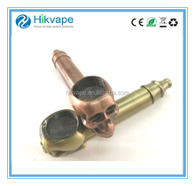 Popular mini pipe Twisty metal blunt pipe Skull e cig Tobacco smoking Pipe for dry herb vaporizer