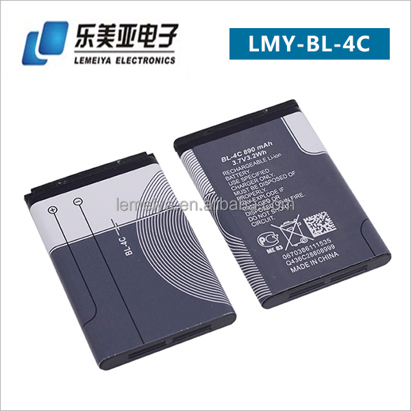 China Manufacturer Excellent Quality Factory Price Mobile Phone Battery BL-4C for Nokia 2650 3108 3500c 6100 6260 7200 7270