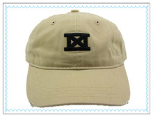 Accept paypal 6panel beige low profile 100% cotton stressed dad baseball cap