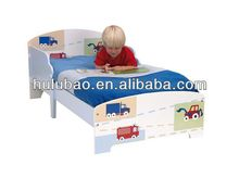 cheap boys cartoon picture design bedroom kids bed furniture
