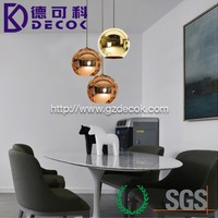 Modern LED Chrome Gold Copper Round