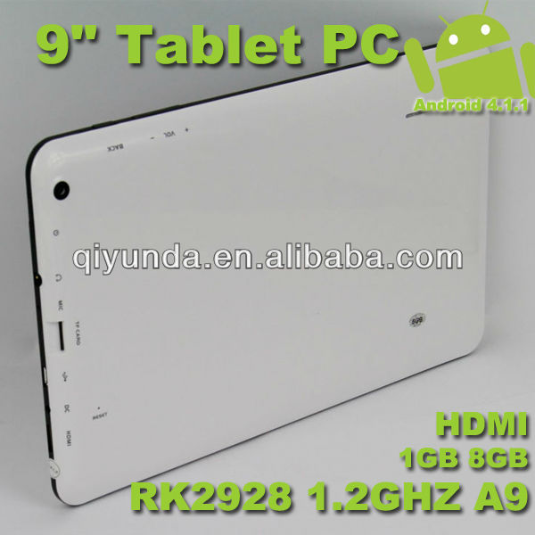 "9"" Android Tablet PC With Front And Back Camera"