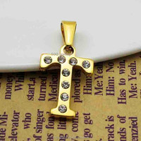 SSP420017 Luxury Crystal W Letter Jewelry for Mens Stainless Steel 18k Gold Plated Alphabet Diamond Pendant