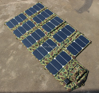 Highly efficient solar panel,large power 64 w folding solar panel for charging cell phone laptop
