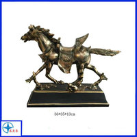 Wholesale polyresin bronze animal horse figurine