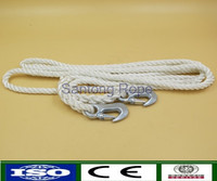 "5/8""x12' nylon twisted tow rope with hooks for SUV"