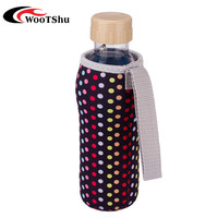 Colorful lovely Neoprene Fabric Warm Heat Insulation 500ML Water Bottle Bags Thermos Cup tote Bag Cover Sleeve