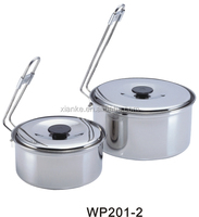 Hot sale stainless steel picnic cook set mess kit with travel pots set sale