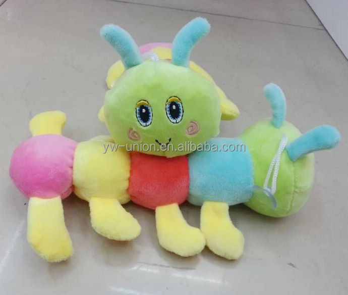 Dollar machine cheap 20cm animal toys / coin operated stuffed animal toy caterpillar