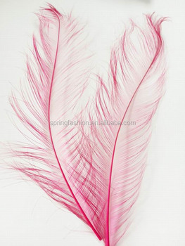Ostrich feather,burnt ostrich feather in fuschia,millinery feathers in size 50-55cm