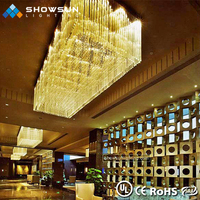 2018 new design big hotel lobby large size Luxury pendant light modern crystal chandelier