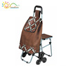 Folding travel trolley bag with chair seat,shopping trolley bag