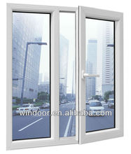 pvc windows and doors, pvc frame glass window, pvc sliding window with roller shutter with insect sreen window(China (Mainland)