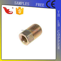 LB-GutenTop new arrive brass casting three-way hose barb connector barbed 45 degree tee brass cross hose barb fitting