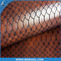 OEM Available Stronger Durable embossed split leather