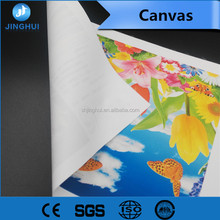 Good quality Waterproof Inkjet Matte Poly Cotton Canvas, Wholesale 380Gram Stretched Canvas for Wide Format Printing