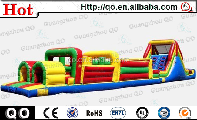 Outdoor custom portable kangoo jumps cheap inflatable obstacle course