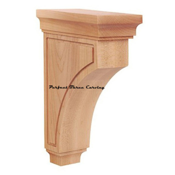 Hot sale Wood Carved Corbel Contemporary Plain Bracket PT5139