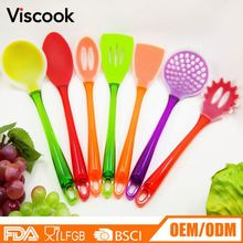 Manufacturer Supplies Silicone Rubber Kitchen Utensils Cooking Tools Set
