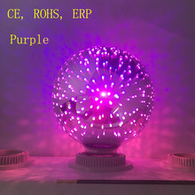 2017 New Product China suppliers 3D G80 G95 G125 Purple color magical Decorative Christmas lamp E27 LED filament bulb