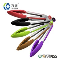 High temperature resistance silicone food tong