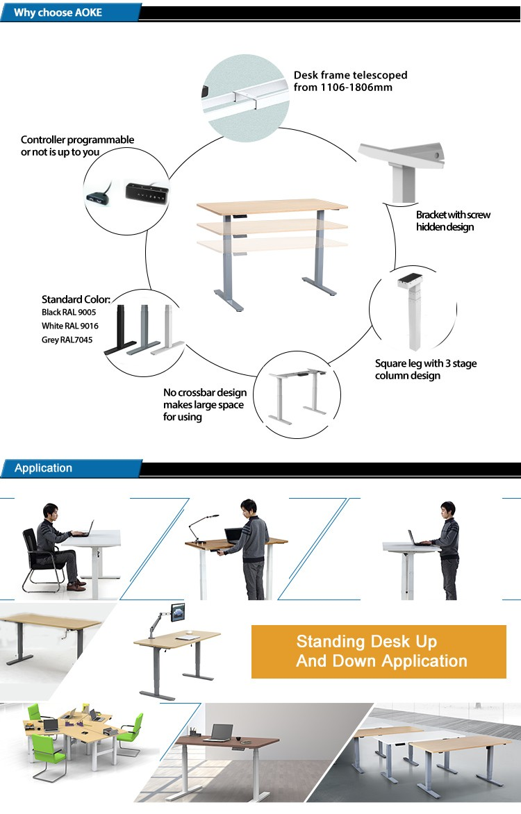 adjustable height desk electric