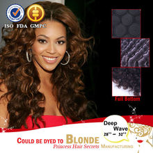 Hot !!! 8-36 inch cheap price black color deep wave black top unprocessed virgin brazilian bresilienne hair