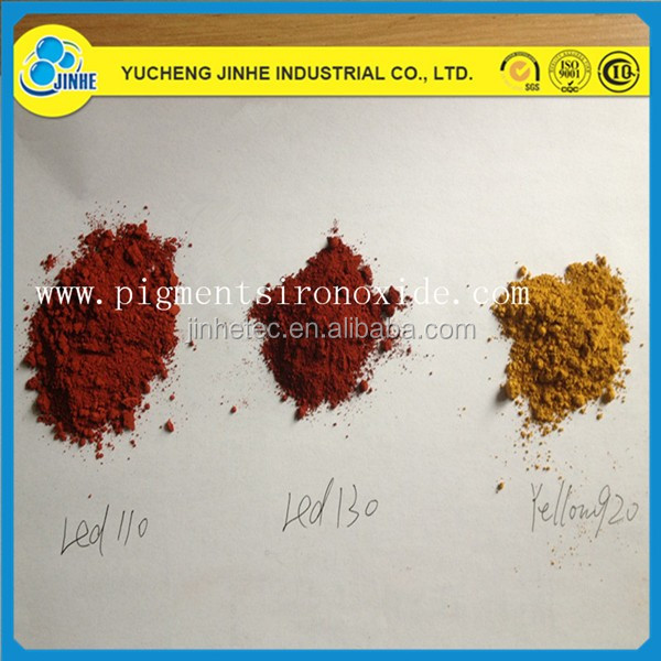 concrete pigment red/yellow/green/blue/black/orange/brown iron oxide