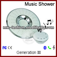 led music lighting shower head
